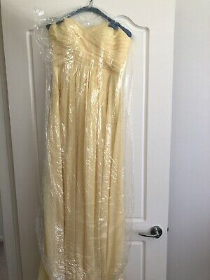 Yellow Bridesmaid / Formal Dress (Size 8)