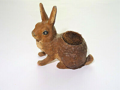 Vienna Nadelkissen Figural Hase Rabbit bemalt painted pin cushion um 1900