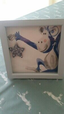 Baby Boy/Toddler Bedroom Laura Ashley Cheeky Monkey Frame Hand Crafted