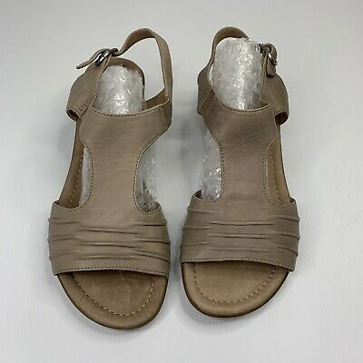 Diana Ferrari Supersoft Sandal Tan Leather Size 7c