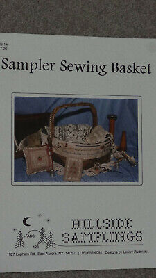 Hillside Samplings - 'Sampler Sewing Basket' New