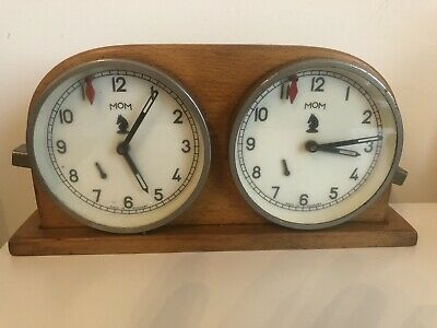 Vintage MOM Chess Double  Clock