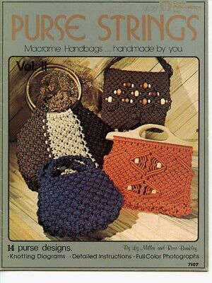 Macrame - Purse Strings - Macrame Handbags, Vintage,  Liz Miller & Rose Brinkley