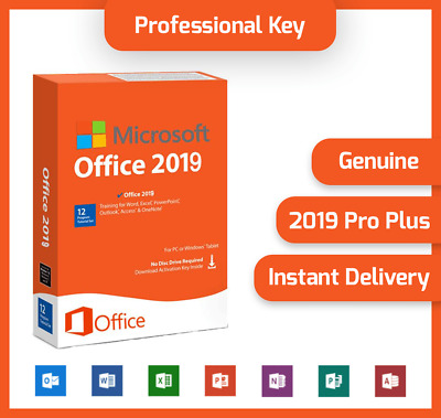 Microsoft Office 2019 Professional Plus ⭐ 32/64 Bit License Key For 1 PC ⭐