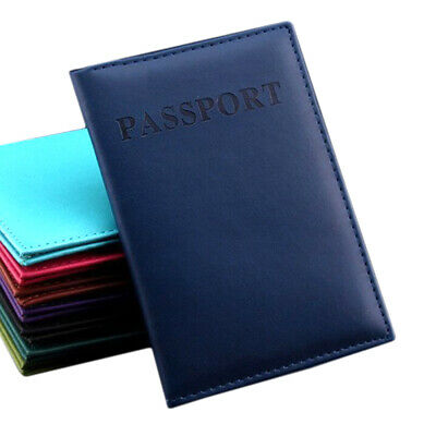 Business Card Holder PU Leather Passport Cover ID Credit Card Holder Wallet