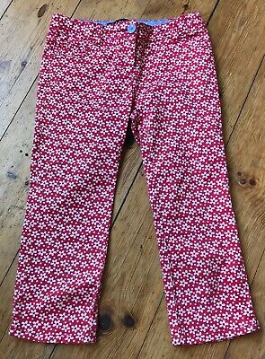Mini Boden  Trousers. Red And White Flowers Age 10