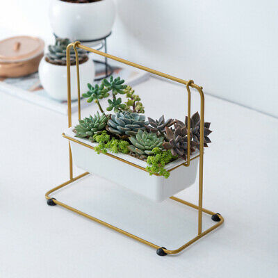 1pc Iron Stand Fashionable Wonderful Stylish Iron Shelf Flower Pot