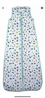 Slumbersac Summer Sleeping Bag with Feet 1.0 Tog Simply Blue Elephants 24-36 Months