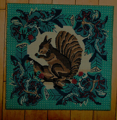 Ehrman Squirrel Needlepoint Tapestry 1989 Completed Judith Gussin