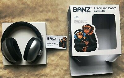 Kids Banz Baby Ear Defenders / Ear Muffs Silver 3 Months+ Brand New & Sealed