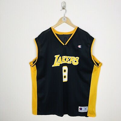 Champion LA Lakers Kobe Bryant #8 Men's XL Size 48 Black NBA Jersey Vest