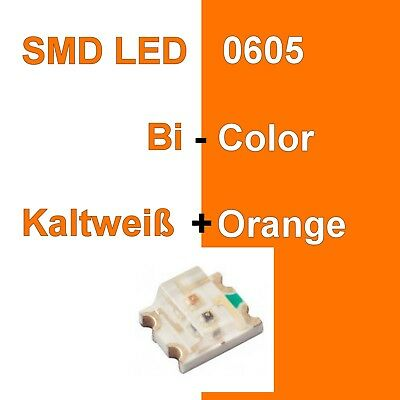 1//10//20 Stück SMD LED 0605 Bi-Color Warmweiß//Rot Duo LED Bicolor C3248