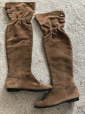 Womens Calvin Klein over the knee boots bown 8