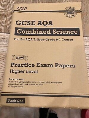 LIKE NEW Grade 9-1 GCSE Combined Science AQA Practice by GCP Higher Pack One