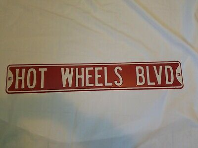 Steel Full Size Street Sign RED (HOT WHEELS BLVD.) Metal sign