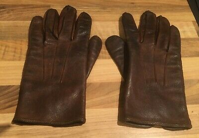 Newey Brothers Birmingham Mens Retro Brown Leather Gloves size M