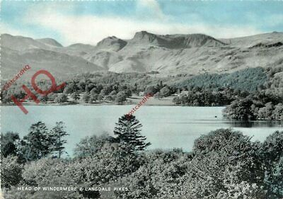 Picture Postcard~ English Lake District, Windermere And Langdale Pikes