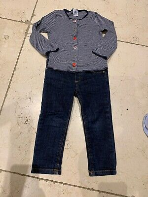 Petit Bateau Girl Age 2 Jeans And Top Outfit
