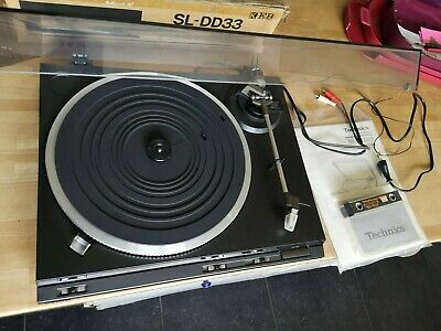 Vintage Tourne-disque Technics SL-DD33 Direct Drive Turntable + Manual - Boxed