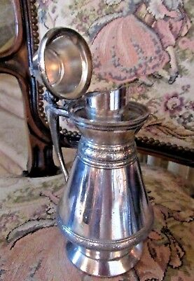 July 1,1893  LIDDED JUG w/CONCEALED SPOUT Quad Silver Plate MERIDIAN  BRITANNIA