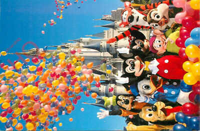 Picture Postcard>>Walt Disney World, All The Disney Characters
