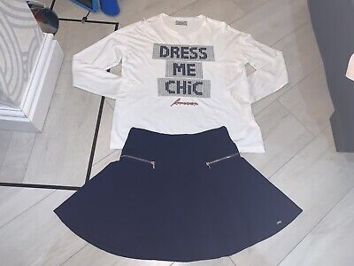Girls Designer Mayoral Outfit Top & Skirt Age 14 Years Excellent Condition