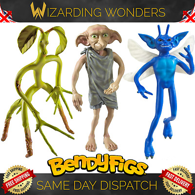 Harry Potter Bendable Figure Dobby Bowtruckle Cornish Pixie Noble Collection