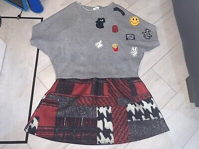 Girls Designer Fun & Fun Outfit Dress & Jumper Age 14 Years Excellent Condition