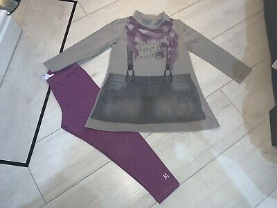 Girls Designer Mayoral Outfit Top & Leggings Age 4 Years Vgc