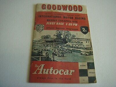 "Goodwood 1955 Race programe ""British International Racing Club"""