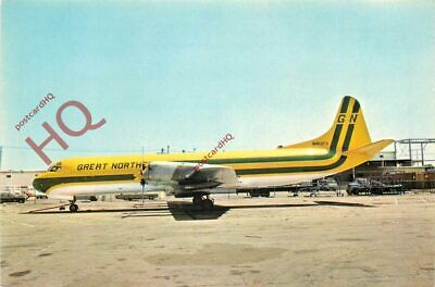 Postcard; GREAT NORTHERN AIRLINES LOCKHEED L-188C ELECTRA N402FA (N402GN)