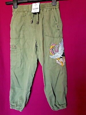 BNWT Next Khaki Japanese Embroidery Combat Pants Trousers Age 11 RRP £25