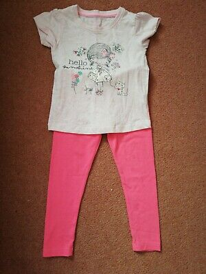 Girls Top And Leggings 4-5 Years Primark Excellent Condition
