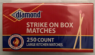 DIAMOND STRIKE ON BOX Large Kitchen Matches 12 Packs Of 250 3,000 Count Total
