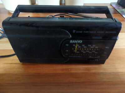 Retro Sanyo 2 Band Receiver RP 6168 Transistor Radio in working order.(AM only )