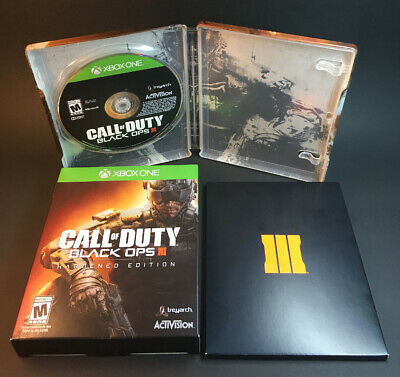 Call Of Duty Black Ops 3 Xbox One Hardened Edition Metal Case Character Art Card