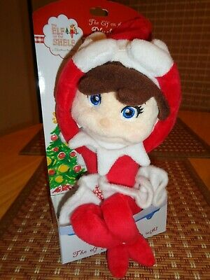 Authentic Elf On The Shelf Girl Plushie Pal Doll Blue Eyes @ Hallmark Brand New