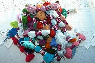 Semco 100% Wool Tapestry & Longstitch Skeins - Brand New 50 Pces Mixed Colours
