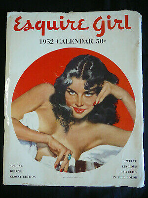 ESQUIRE GIRL 1952 Calendar with sleeve (vintage mens glamour pin up)