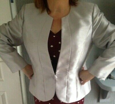 Jaques Vert size 18  Lined Ivory 3/4 Sleeve Jacket wedding Mother Of The Bride