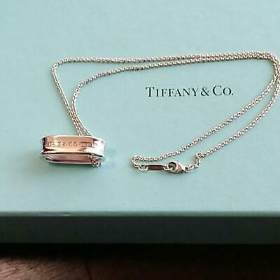 Tiffany & Co Authentic Sterling Silver 925 1837 Oval Loop Pendant Chain Necklace