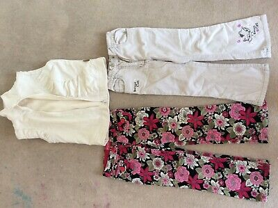 Girls winter bundle: 2 cord trousers,body warmer age 5y.o.good used condition