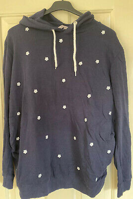 Size 22 Maternity Dorothy Perkins Navy Hooded Top