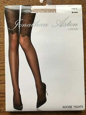 """Jonathan Aston Black//Antique /""""Phantom/"""" Patterned Tights With Sheen"""