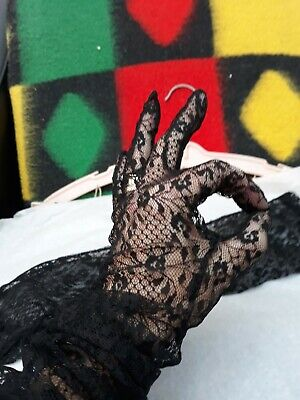 Vintage Black Long Gloves 1950/60s