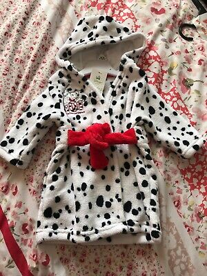 Baby Dalmation Dressing Gown. Age Upto 3M. Bnwt