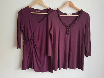 Blooming and Gap maternity Size 12/EUR M t-shirt blouse top bundle (2 items)
