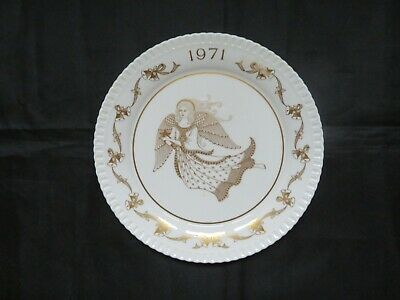 The Second SPODE Christmas plate 1971 Ding Dong Merrily on High - Angel