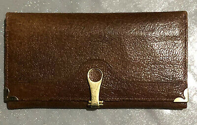 Womens Vintage Brown Leather Purse / Top Quality