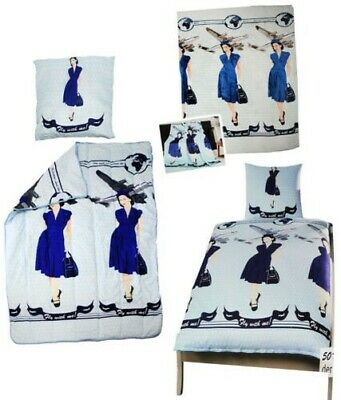 """Bed Linen / Bed Set ´S / Duvet - """" Aircraft / Fly with Me! """" - 100% Microfiber"""